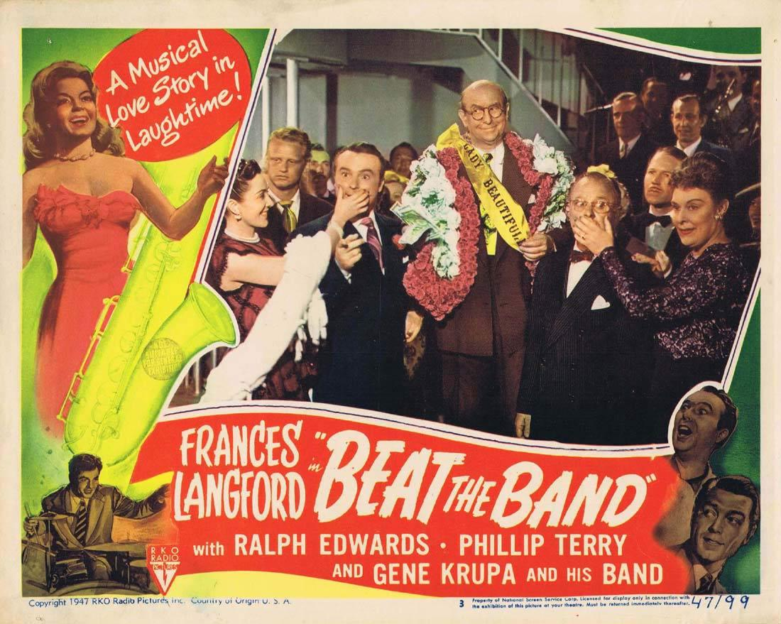 BEAT THE BAND Lobby Card 3 Frances Langford Ralph Edwards Phillip Terry