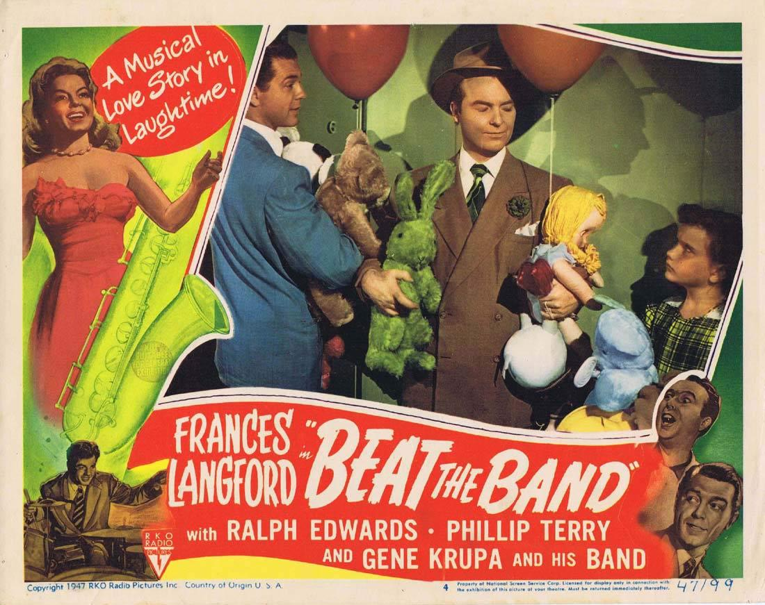 BEAT THE BAND Lobby Card 4 Frances Langford Ralph Edwards Phillip Terry