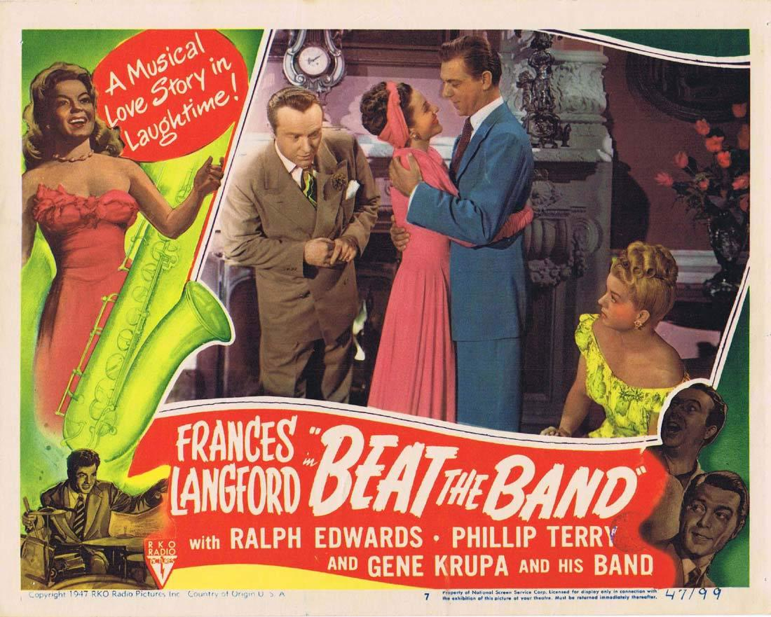 BEAT THE BAND Lobby Card 7 Frances Langford Ralph Edwards Phillip Terry