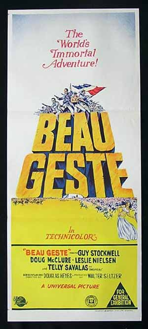 BEAU GESTE Daybill Movie poster 1966 Doug McClure Guy Stockwell