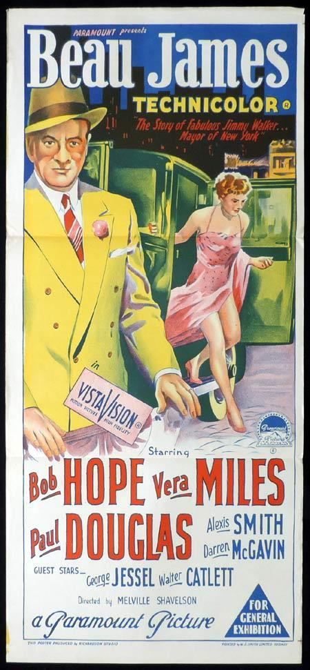 BEAU JAMES Original Daybill Movie Poster BOB HOPE Vera Miles Richardson Studio