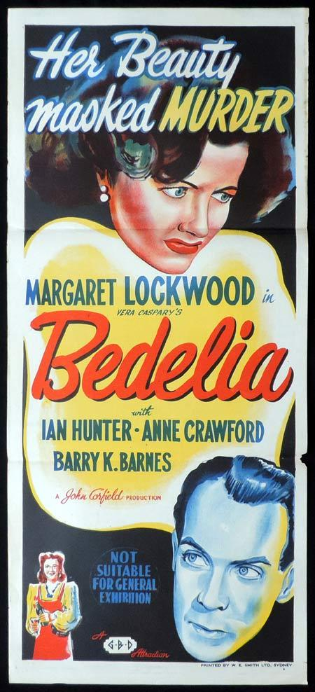 BEDELIA Original Daybill Movie Poster Margaret Lockwood Film Noir