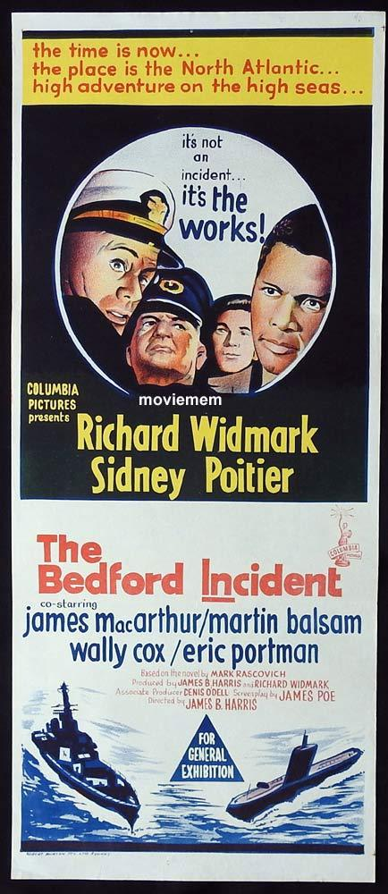 THE BEDFORD INCIDENT Original Daybill Movie Poster Richard Widmark Sidney Poitier