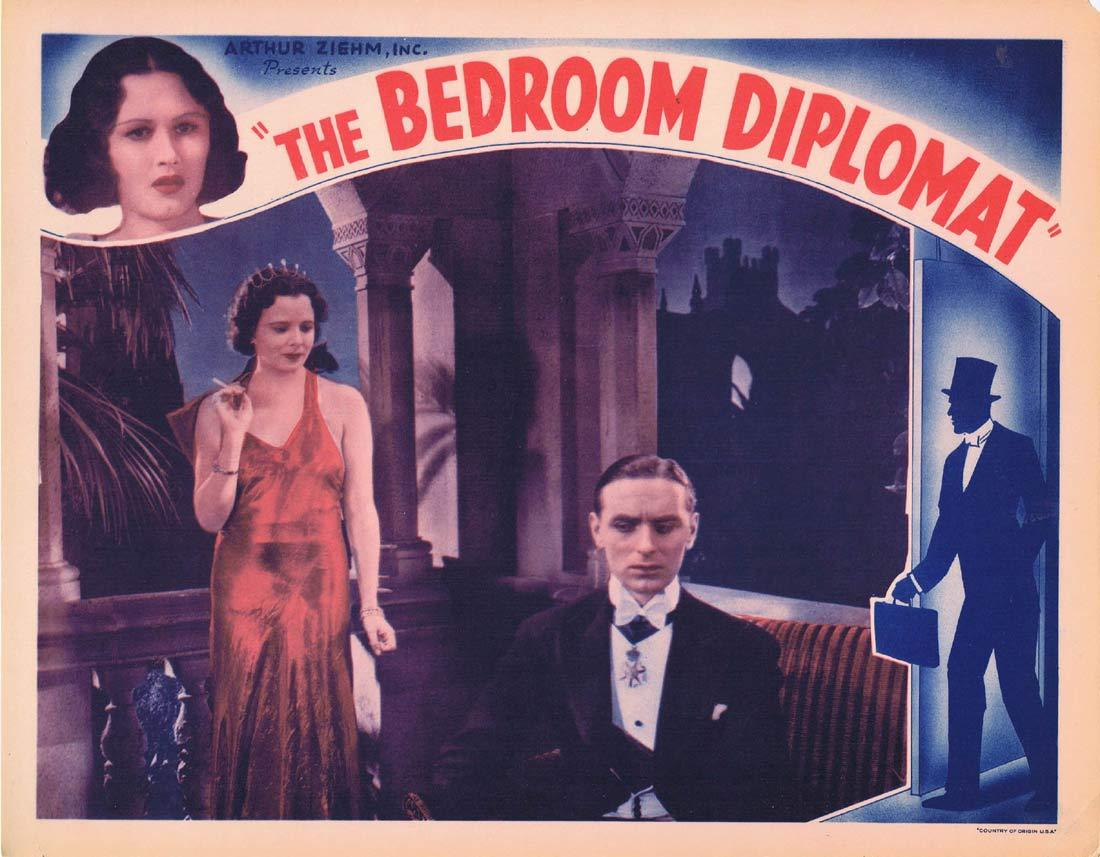 THE BEDROOM DIPLOMAT Original Lobby Card Harold French Tamara Desni Davy Burnaby