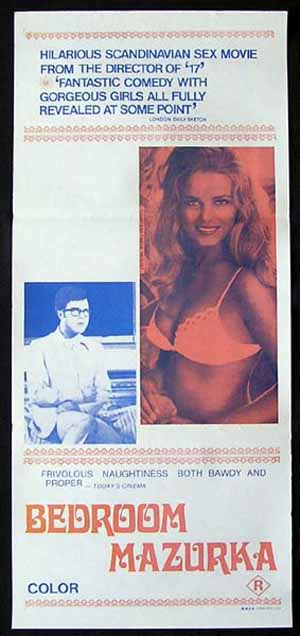 BEDROOM MAZURKA Daybill Movie poster Swedish Sexploitation