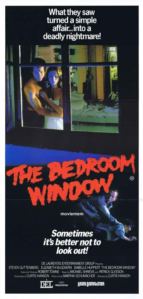 THE BEDROOM WINDOW Original Daybill Movie poster Steve Guttenberg