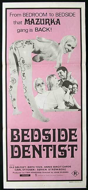 BEDSIDE DENTIST '71 Ole Soltoft SEXPLOITATION daybill Movie Poster