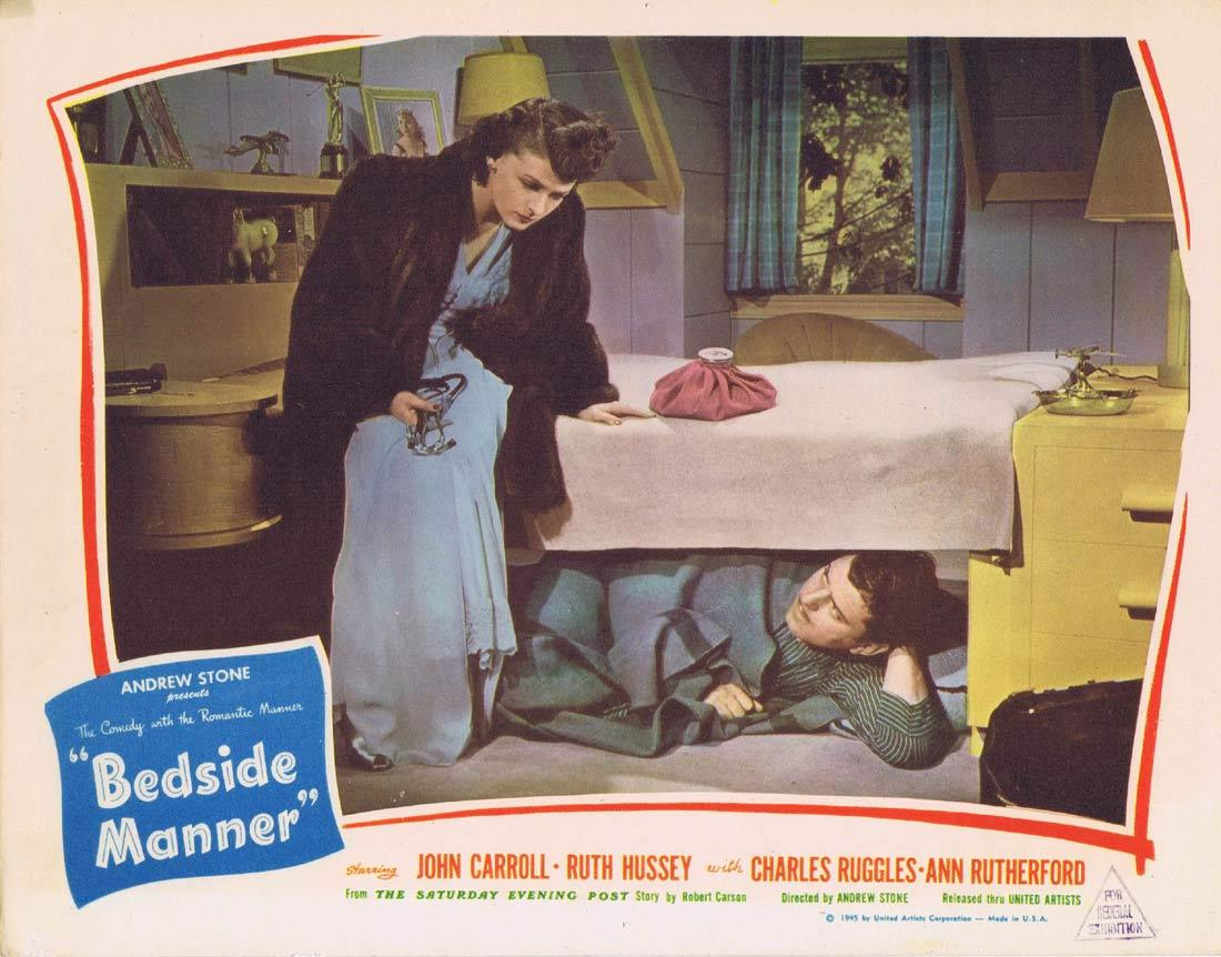 BEDSIDE MANNER Lobby Card 2 John Carroll Ruth Hussey Charles Ruggles Ann Rutherford