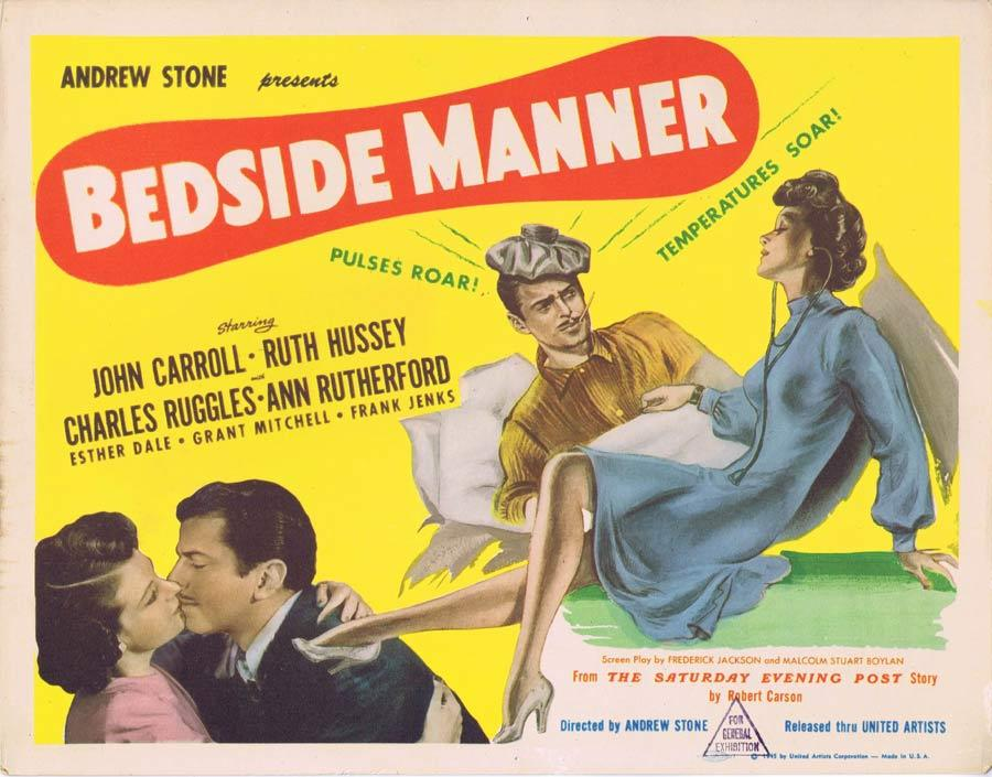 BEDSIDE MANNER Title Lobby Card 2 John Carroll