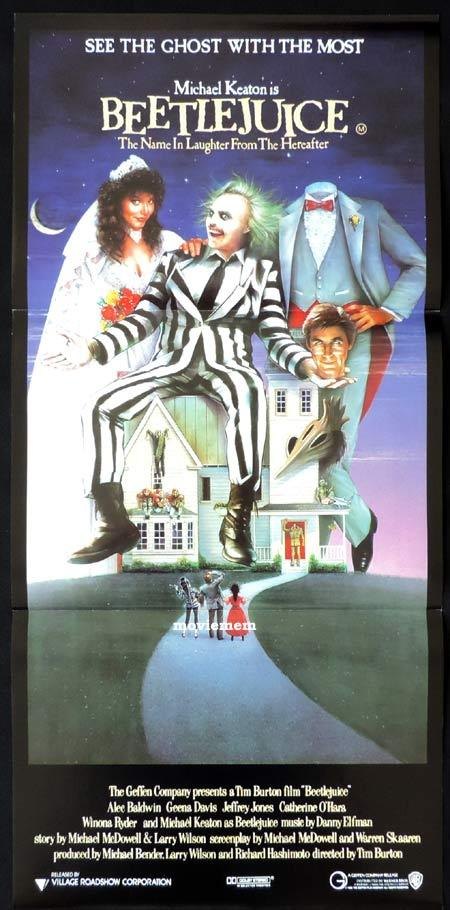 BEETLEJUICE Daybill Movie Poster 1988 Tim Burton Michael Keaton