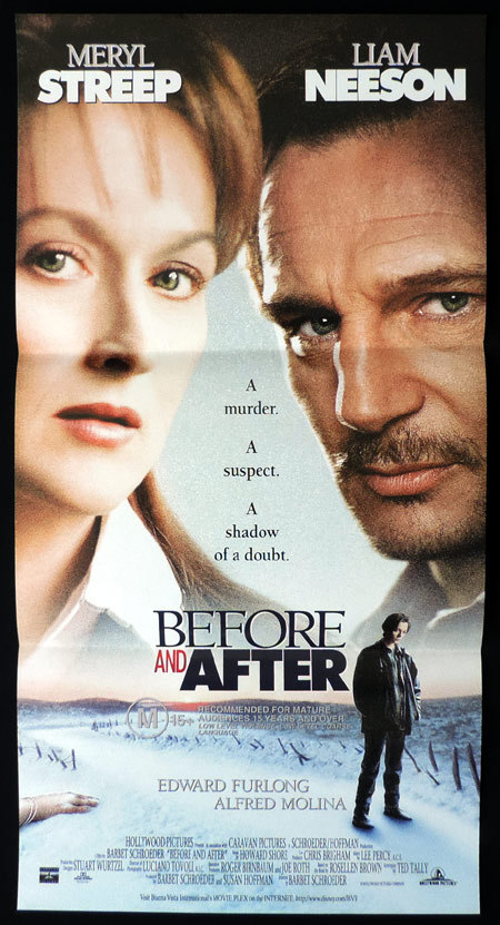 BEFORE AND AFTER Original Daybill Movie Poster Meryl Streep Liam Neeson