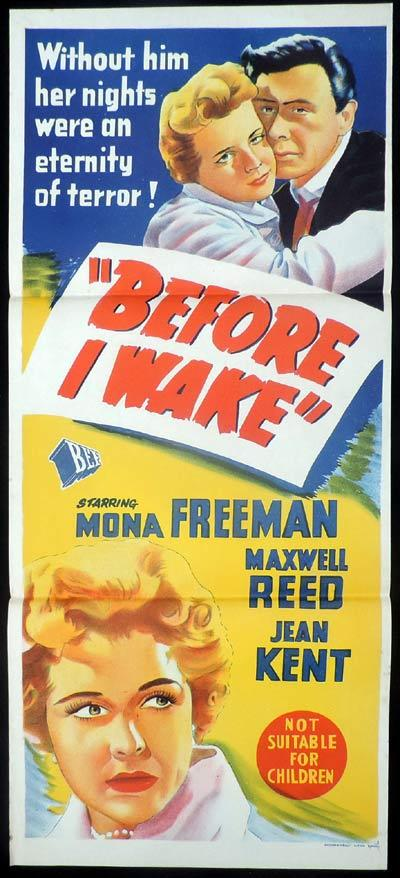 BEFORE I WAKE Daybill Movie poster Mona Freeman