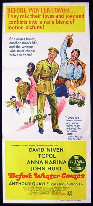 BEFORE WINTER COMES Original Daybill Movie Poster David Niven