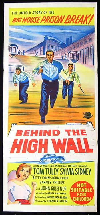 BEHIND THE HIGH WALL Original Daybill Movie Poster Sylvia Sidney Film Noir