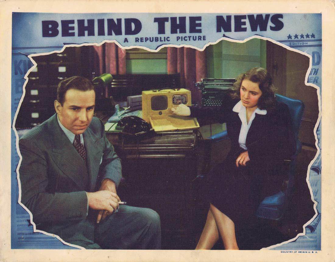 BEHIND THE NEWS Original Lobby Card Lloyd Nolan Doris Davenport Frank Albertson 1940