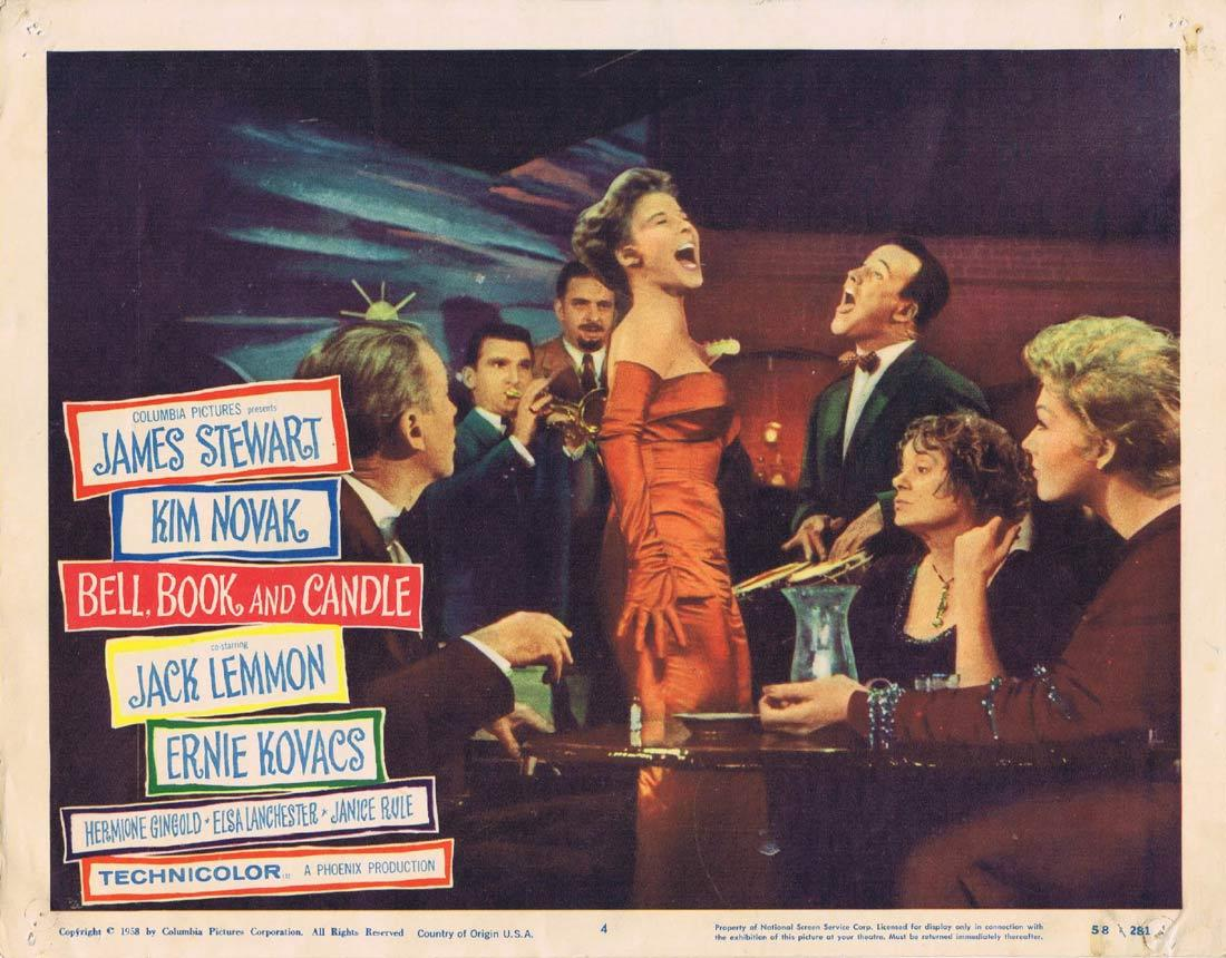 BELL BOOK AND CANDLE Lobby Card 4 James Stewart Kim Novak Jack Lemmon
