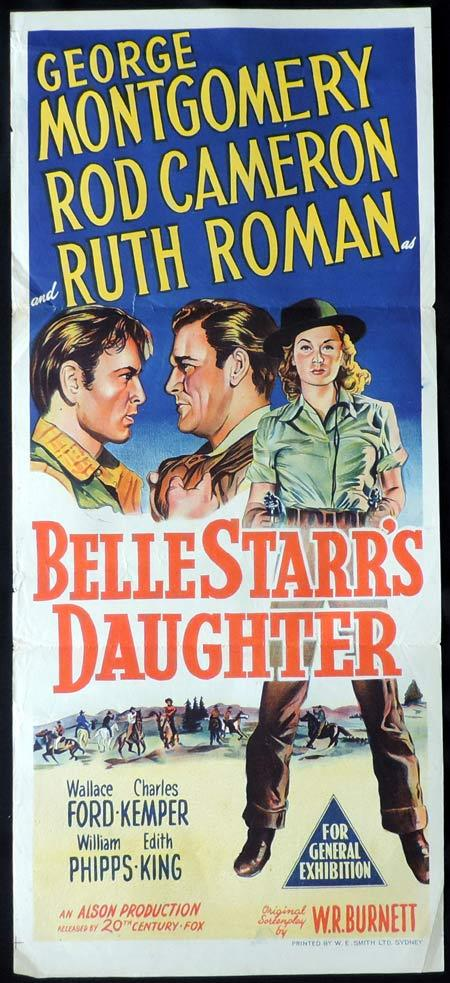 BELLE STARR'S DAUGHTER Original Daybill Movie Poster George Montgomery