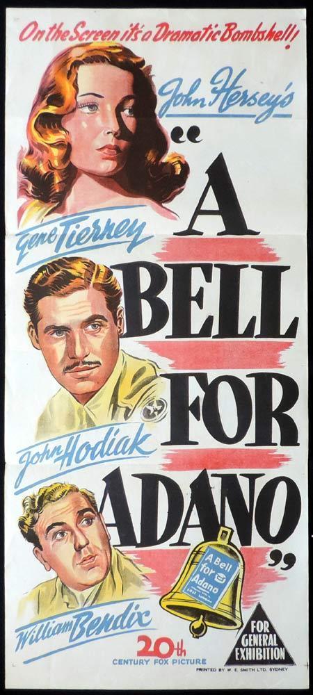 A BELL FOR ADANO Original Daybill Movie Poster Loretta Young Gene Tierney