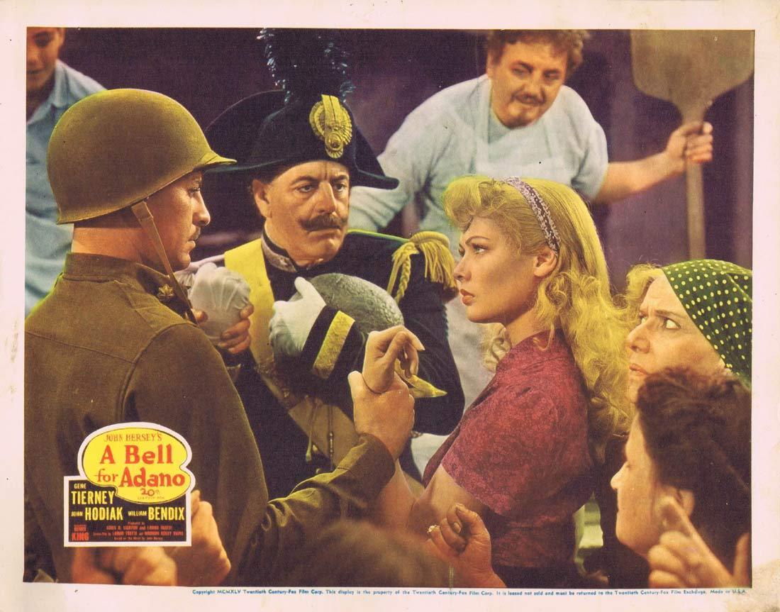 A BELL FOR ADANO Original Lobby card 3 Gene Tierney