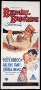 BENGAL BRIGADE Original Daybill Movie Poster Rock Hudson Arlene Dahl