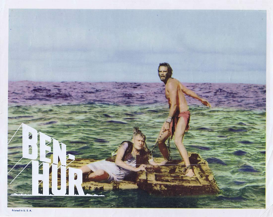 BEN-HUR Vintage Movie Lobby Card Charlton Heston 1969r