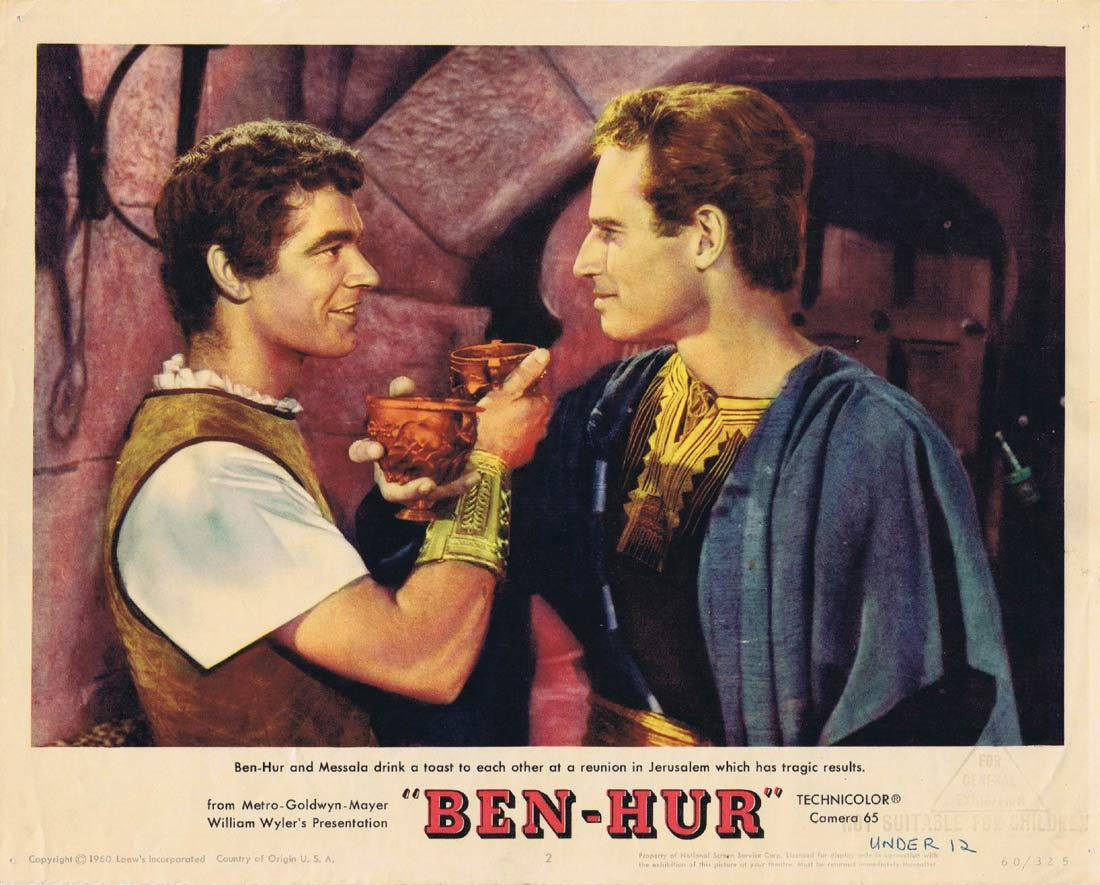 BEN HUR Lobby Card Charlton Heston Stephen Boyd