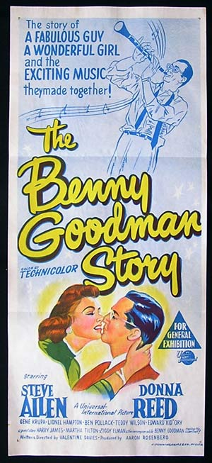 THE BENNY GOODMAN STORY Daybill Movie poster Steve Allen Gene Krupa Lionel Hampton