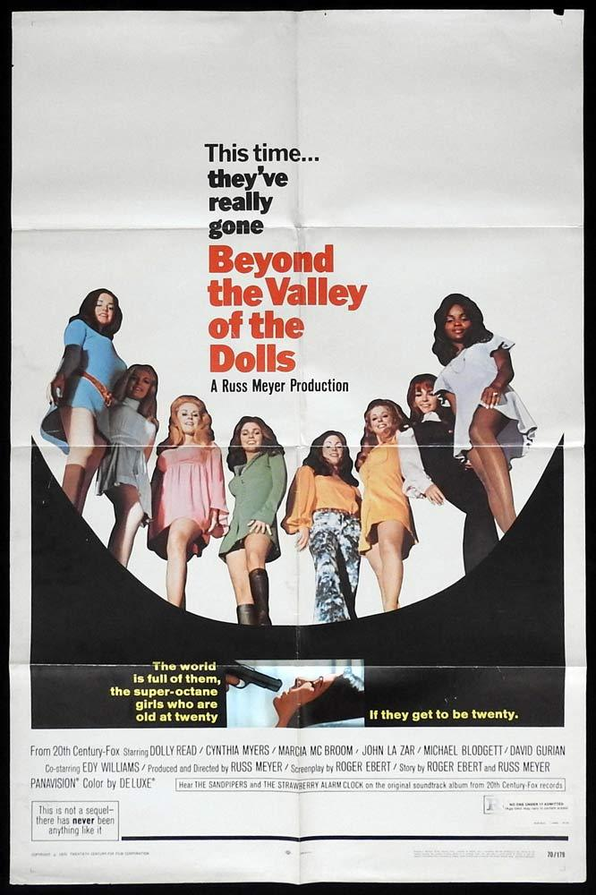 BEYOND THE VALLEY OF THE DOLLS Original US One sheet Movie poster Russ Meyer Dolly Read