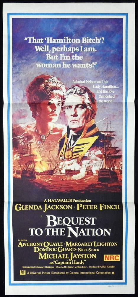 BEQUEST TO THE NATION Original Daybill Movie Poster Glenda Jackson Peter Finch