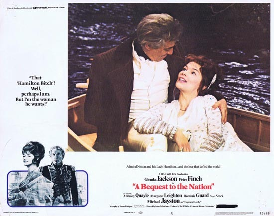 BEQUEST TO A NATION 1973 Peter Finch Glenda Jackson Lobby Card 6