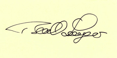 BERNHARD LANGER Golf Autographed Index Card