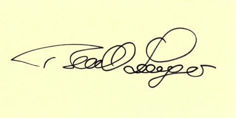 BERNHARD LANGER Golf Autographed Index Card
