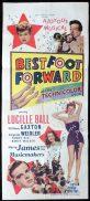 BEST FOOT FORWARD Original Daybill Movie Poster Lucille Ball Marchant Graphics
