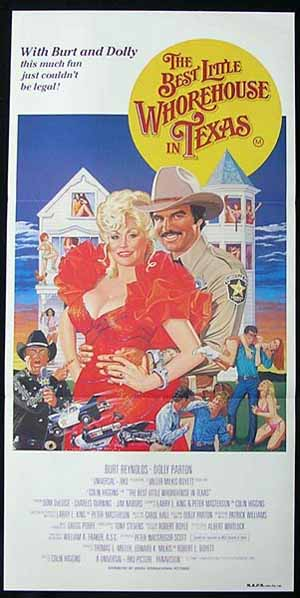 BEST LITTLE WHOREHOUSE IN TEXAS Dolly Parton poster