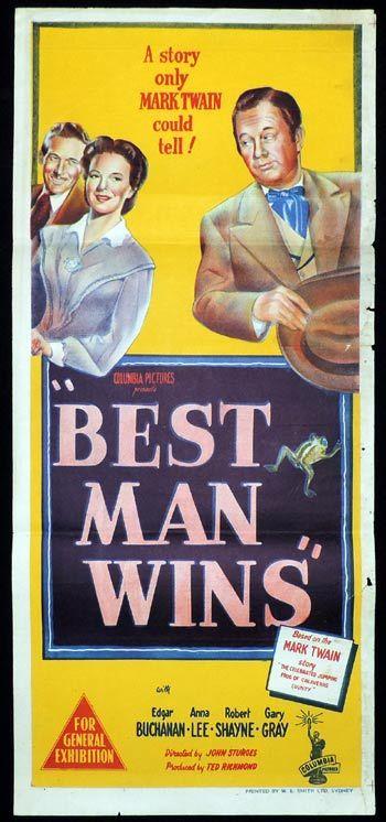 BEST MAN WINS Daybill Movie poster Edgar Buchanan