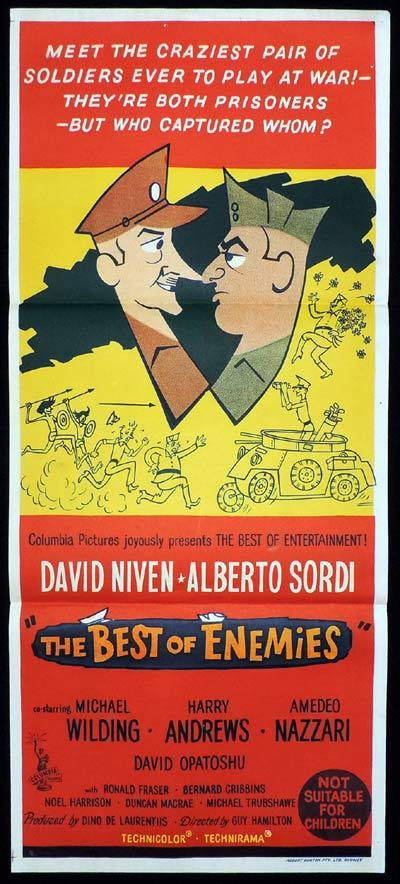 THE BEST OF ENEMIES Daybill Movie poster David Niven