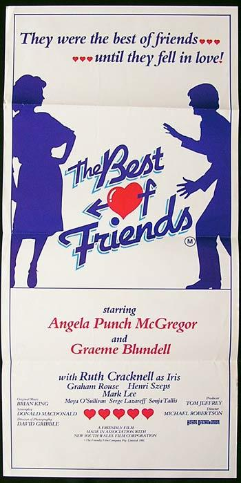 BEST OF FRIENDS, The 1982 Graeme Bludell RARE Daybill poster