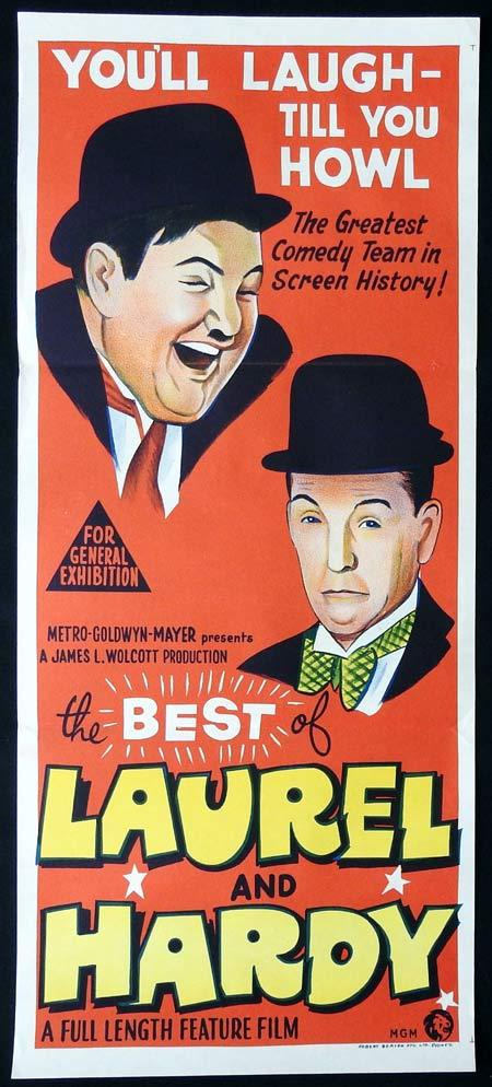 THE BEST OF LAUREL AND HARDY Original Daybill Movie Poster Stan Laurel Oliver Hardy