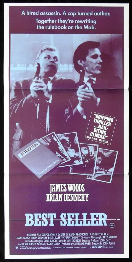 BEST SELLER Original Daybill Movie poster JAMES WOODS Brian Dennehy