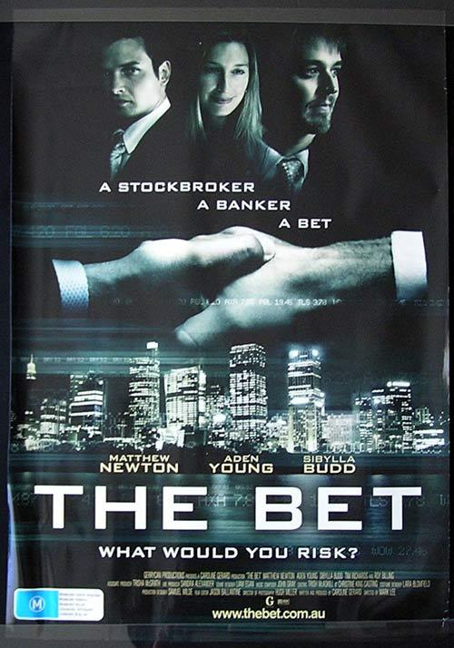THE BET Movie poster 2006 Matthew Newton Gambling Australian Cinema One sheet