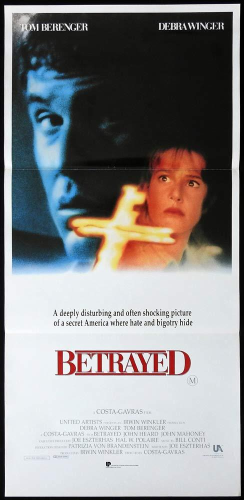 BETRAYED Original Daybill Movie poster Debra Winger Tom Berenger John Heard