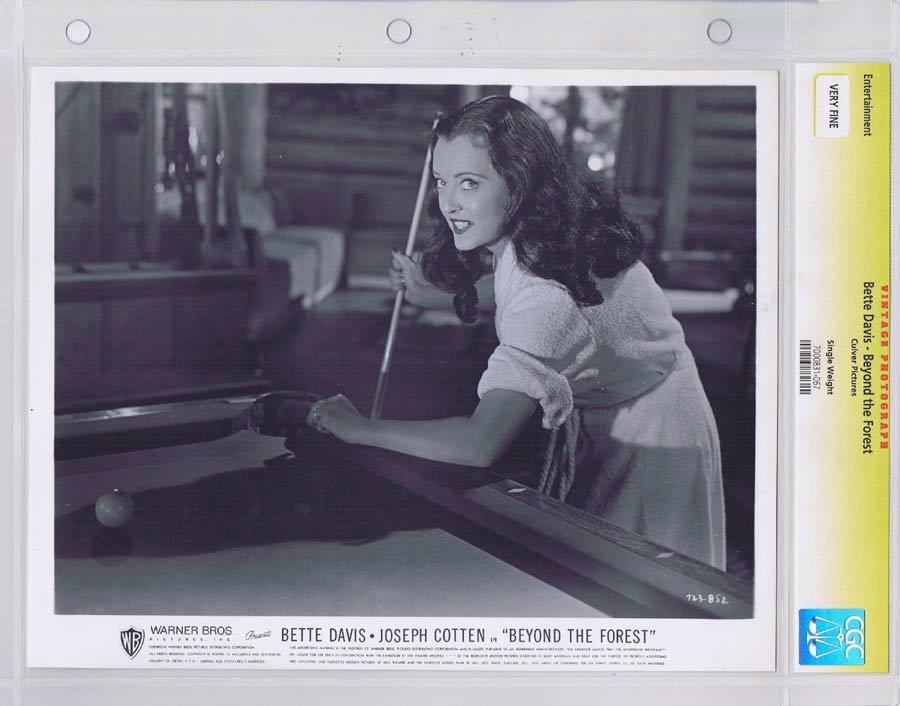 BEYOND THE FOREST Vintage Movie Still BETTE DAVIS CGC Graded
