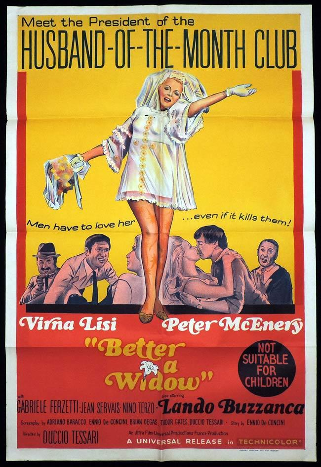 BETTER A WIDOW One Sheet Movie Poster Virna Lisi Peter McEnery