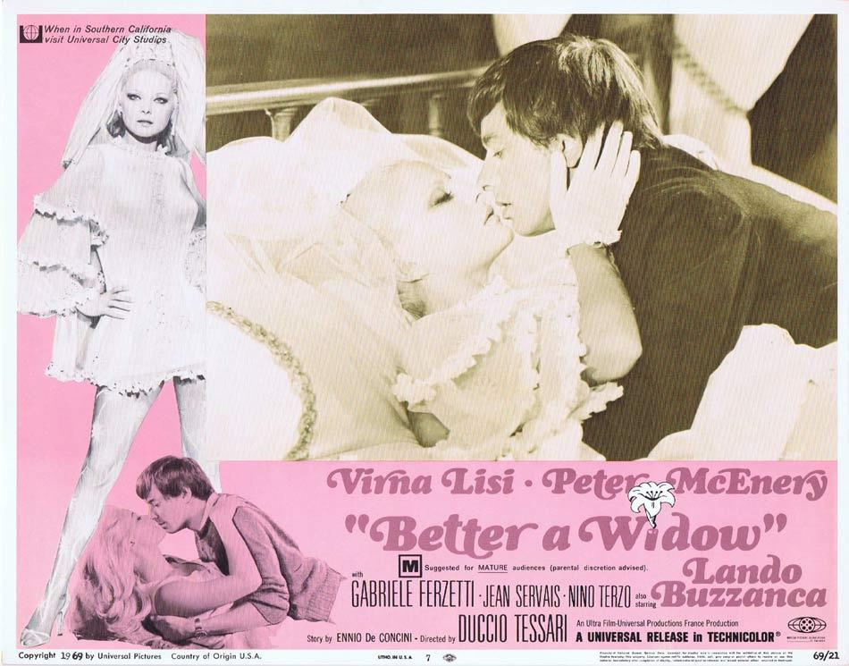 BETTER A WIDOW Lobby Card 7 Virna Lisi Peter McEnery Gabriele Ferzetti