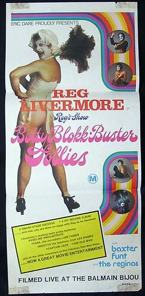 BETTY BLOKKBUSTER FOLLIES Australian Daybill 1976 Reg Livermore