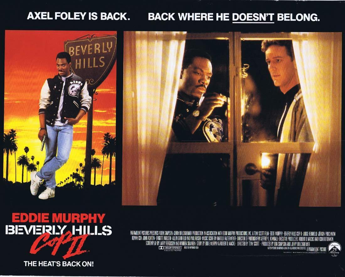 Beverly Hills Cop Ii Lobby Card 2 Eddie Murphy Judge Reinhold Moviemem Original Movie Posters