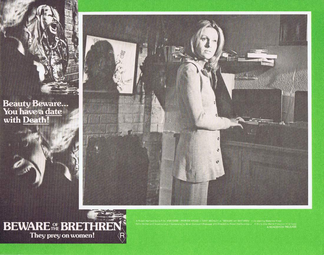 BEWARE OF THE BRETHREN Original Australian Lobby card 2 The Fiend Horror