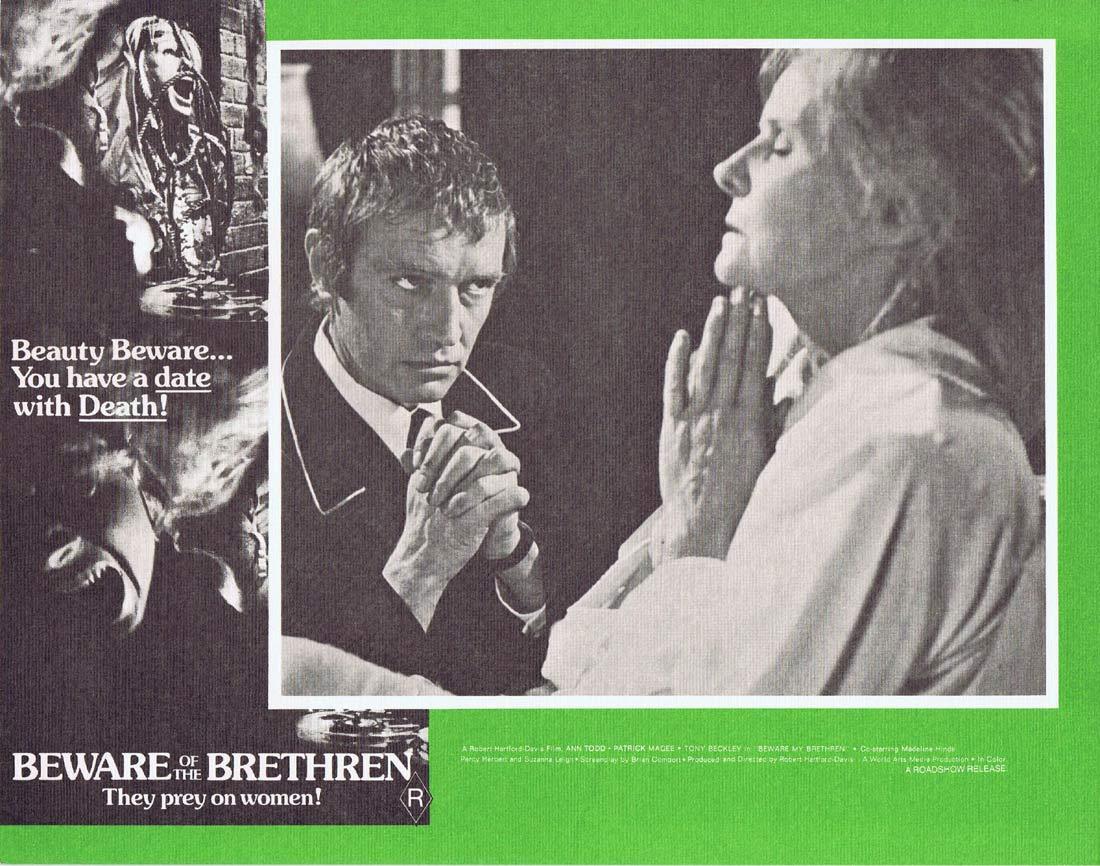 BEWARE OF THE BRETHREN Original Australian Lobby card 3 The Fiend Horror