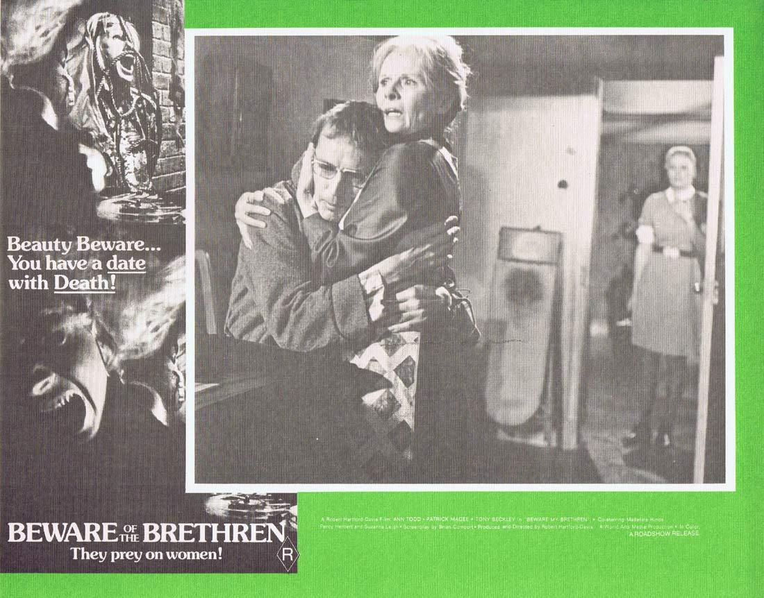 BEWARE OF THE BRETHREN Original Australian Lobby card 6 The Fiend Horror