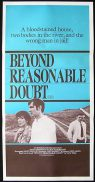 BEYOND REASONABLE DOUBT Original Daybill Movie Poster  David Hemmings